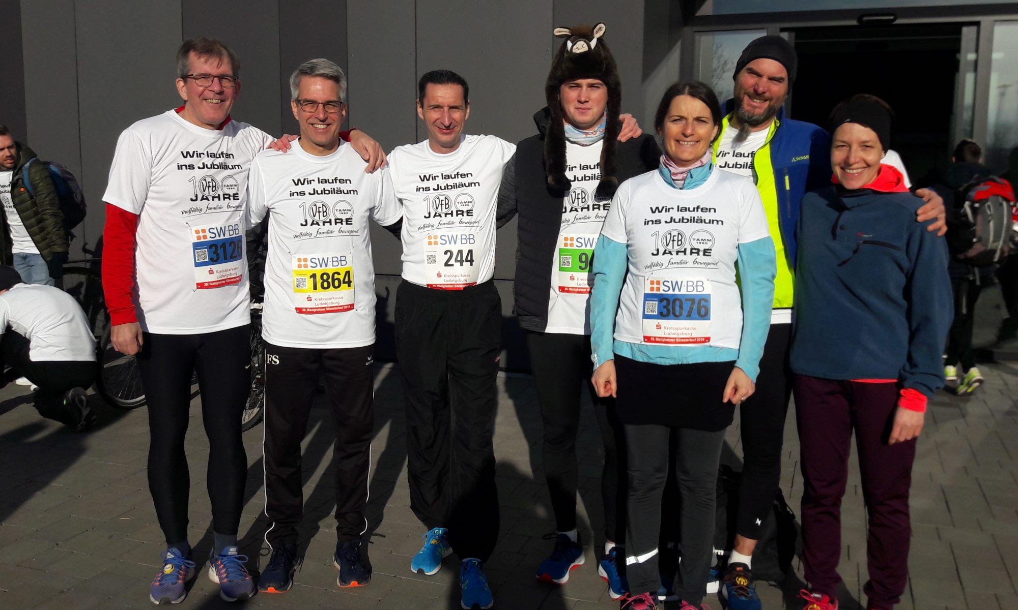 Unsere Eintracht-Läufer. Es fehlen auf dem Bild Wolfgang Günther und Thomas Woelky